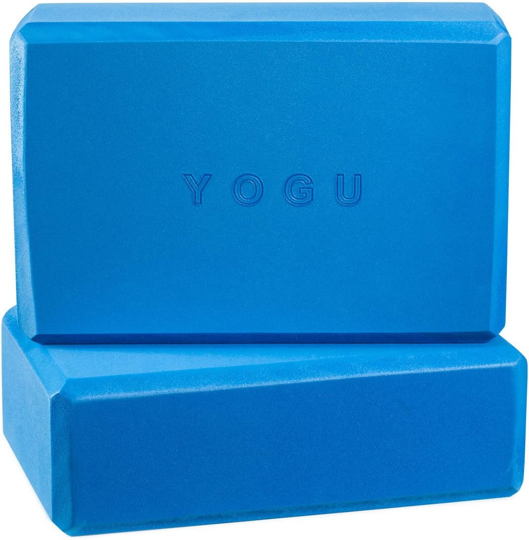YOGU Yoga Blocks Set of 1 or 2 EVA Foam or Cork Wood