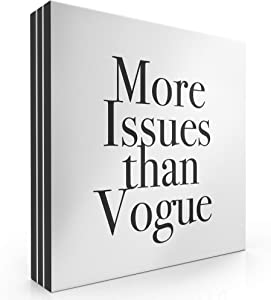 """Modern Market More Issues Than Vogue Box Sign Modern Funny Quote Home Decor Wooden Sign with Sayings 8"""" x 8"""""""