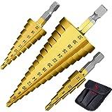 3 st HSS stegbitars sats ss shovan snabbstål stegborr sats - (4-12 mm, 4-20 mm och 4-32 mm) konborr hålskärare för trä…