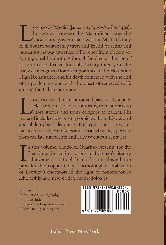 Theplete Literary Works Of Lorenzo De' Medici,