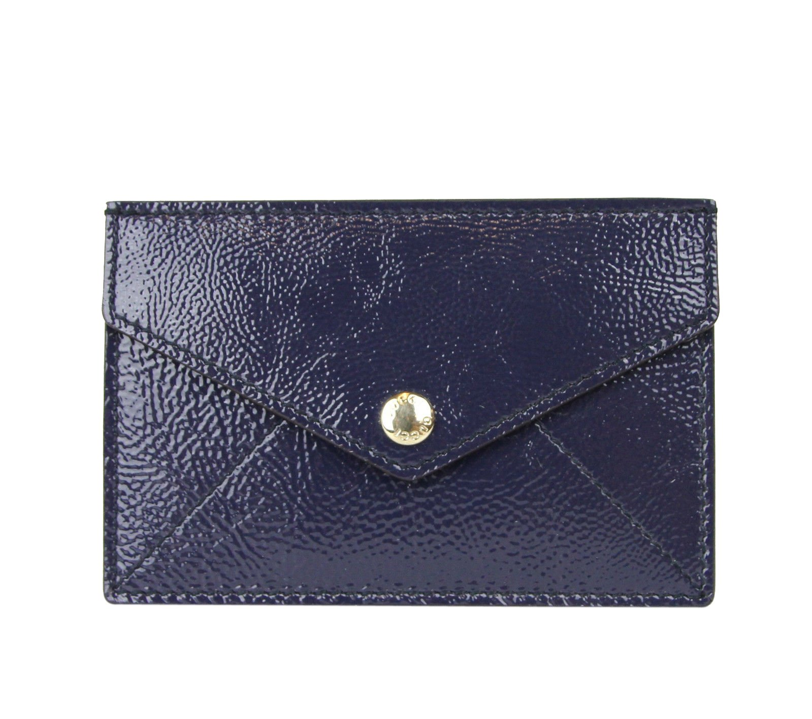 Gucci Blue Pouch Soho Patent Leather Card Case 337945 4233 by Gucci