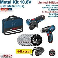 Bosch Professional 0615990H5G Mini Amoladora y Taladro, 10.8