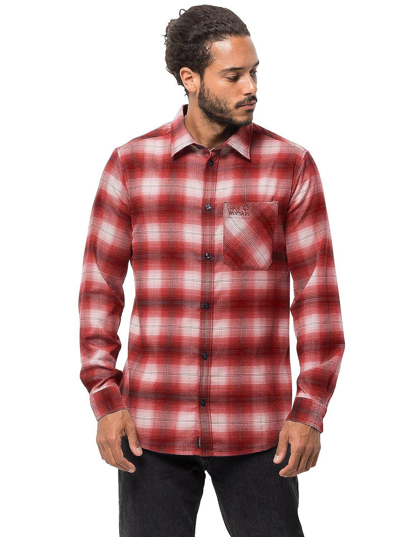 Jack Wolfskin Herren Light Valley Shirt Hemd für Reise Freizeithemd