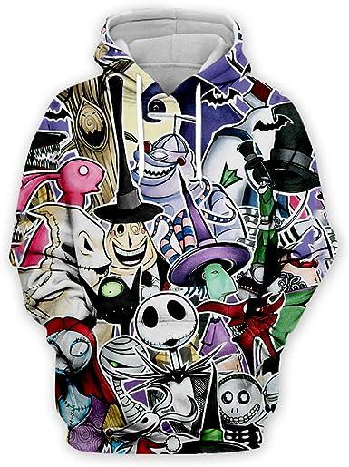 Kids Unisex Hooded Sweatshirt Jumper Hoodie Nightmare Before Christmas Jack