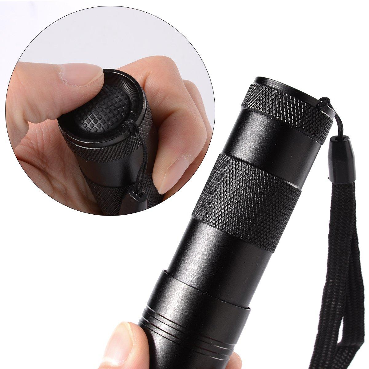 Xcellent Global linterna de luz negra UV Detector ultravioleta de orina de mano de la antorcha: Amazon.es: Electrónica