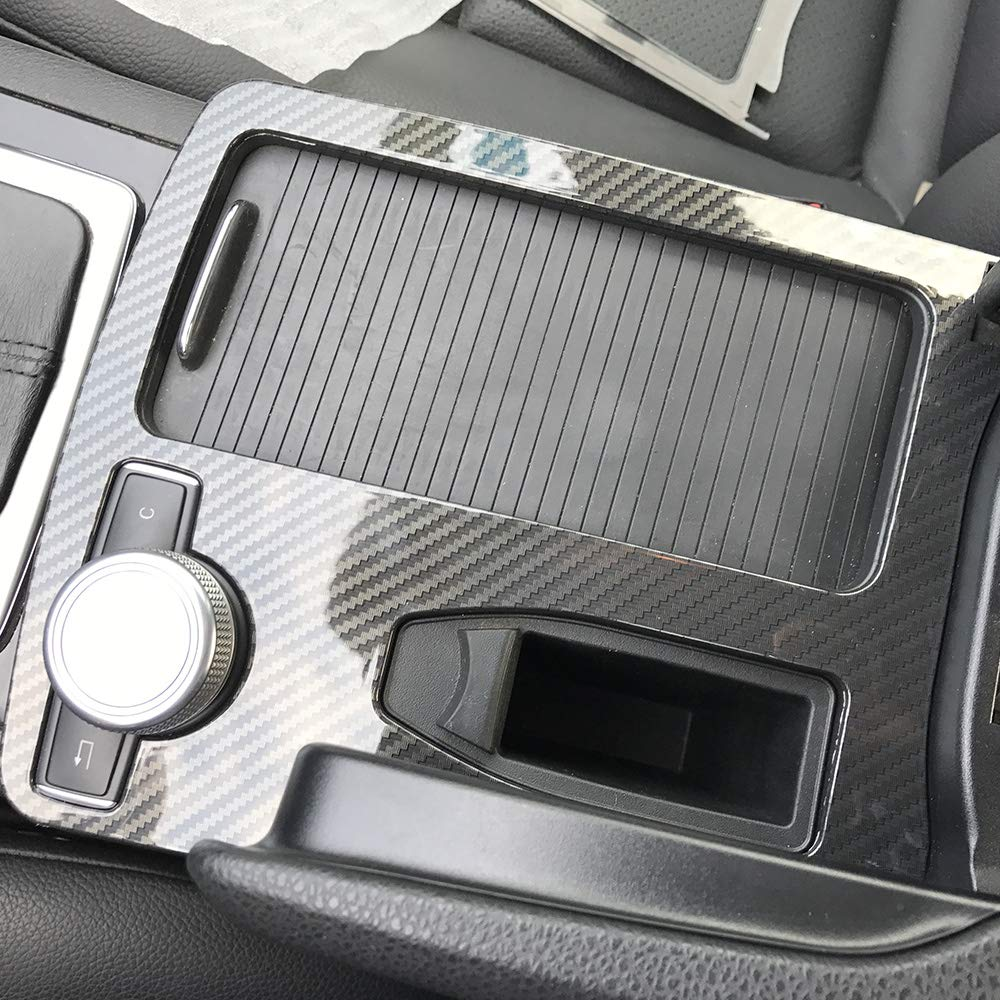 Console Armrest Stickers Trim Cover Car Styling Interior Accessories for Mercedes-Benz C-Class C180 C200 W204 2008-2014 LHD C180 C200 C260 C300