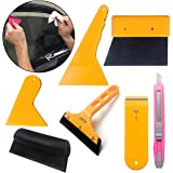 Jecr Window Tint and Vinyl Wrap Tool Kit Set - Scraper Squeegee for Auto Film Tinting Installation - Glass Protective Film Installing Tool for Car and Home - Vehicle Wrap Accessories