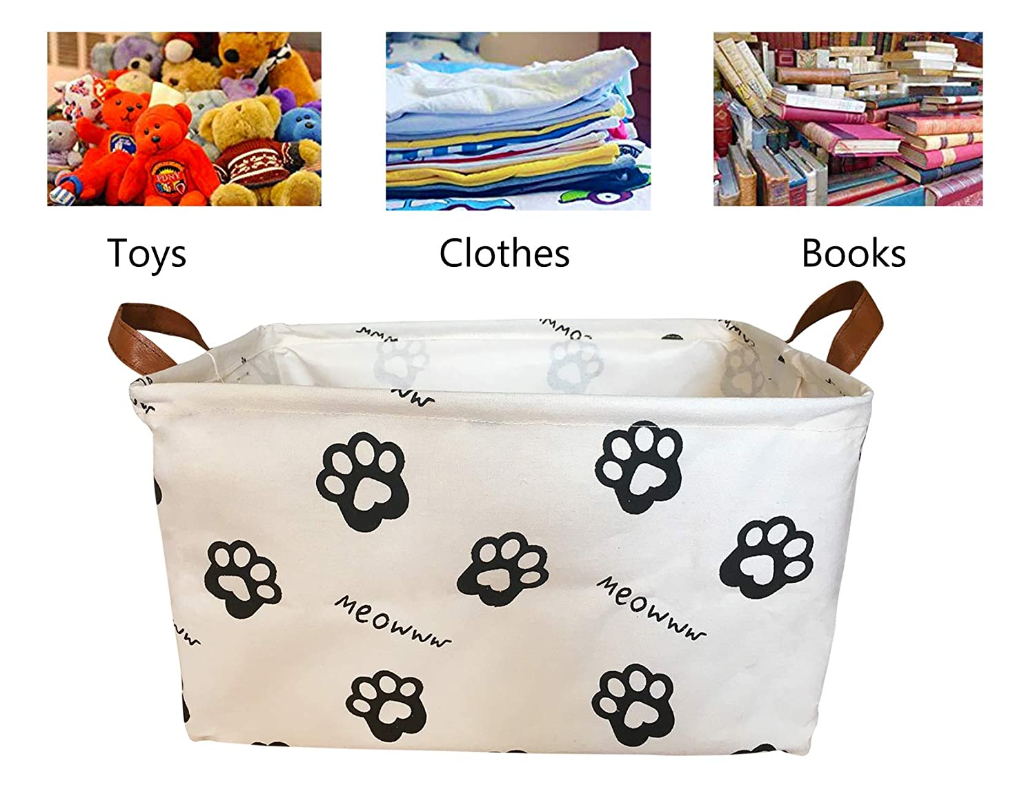 Closet Kids Toys Letter /& Laundry SAKUYV Canvas Storage Bins Toy Basket Collapsible Box Chest Organizer Water-resistant Nursery for edroom