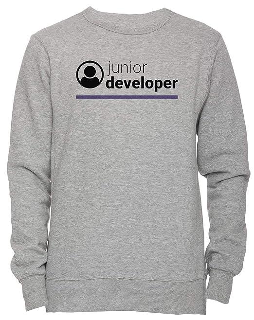 Erido Junior Developer - Junior Developer Unisexo Hombre Mujer Sudadera Jersey Pullover Gris Todos Los Tamaños Mens Womens Jumper Grey: Amazon.es: Ropa y ...