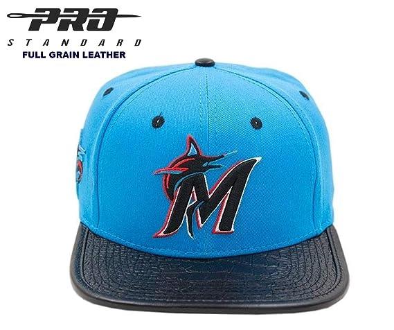 PRO-STANDARD Miami Marlins - Gorra de Piel, diseño de Miami Vice ...