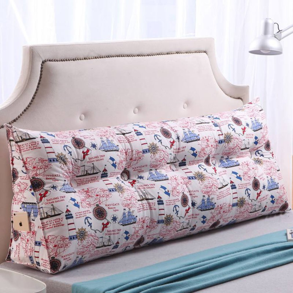 Vercart Sofa Bed Large Filled Triangular Wedge Cushion Bed Backrest Positioning Support Pillow Reading Pillow Office Lumbar Pad with Removable Cover Mixed Color 79 Inches