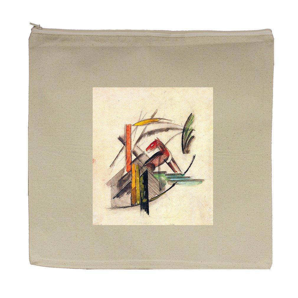 Animal (Franz Marc) Canvas Zipper Tote Bag Makeup Bag