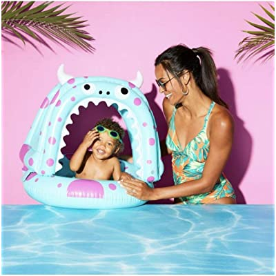 sun squad Inflatable Silly Monster Lil Canopy Float up to 40 lbs: Toys & Games