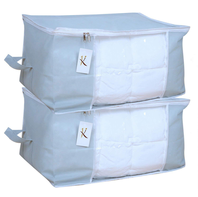 Kuber Industries 2 Piece Non Woven Underbed Storage Bag Set,