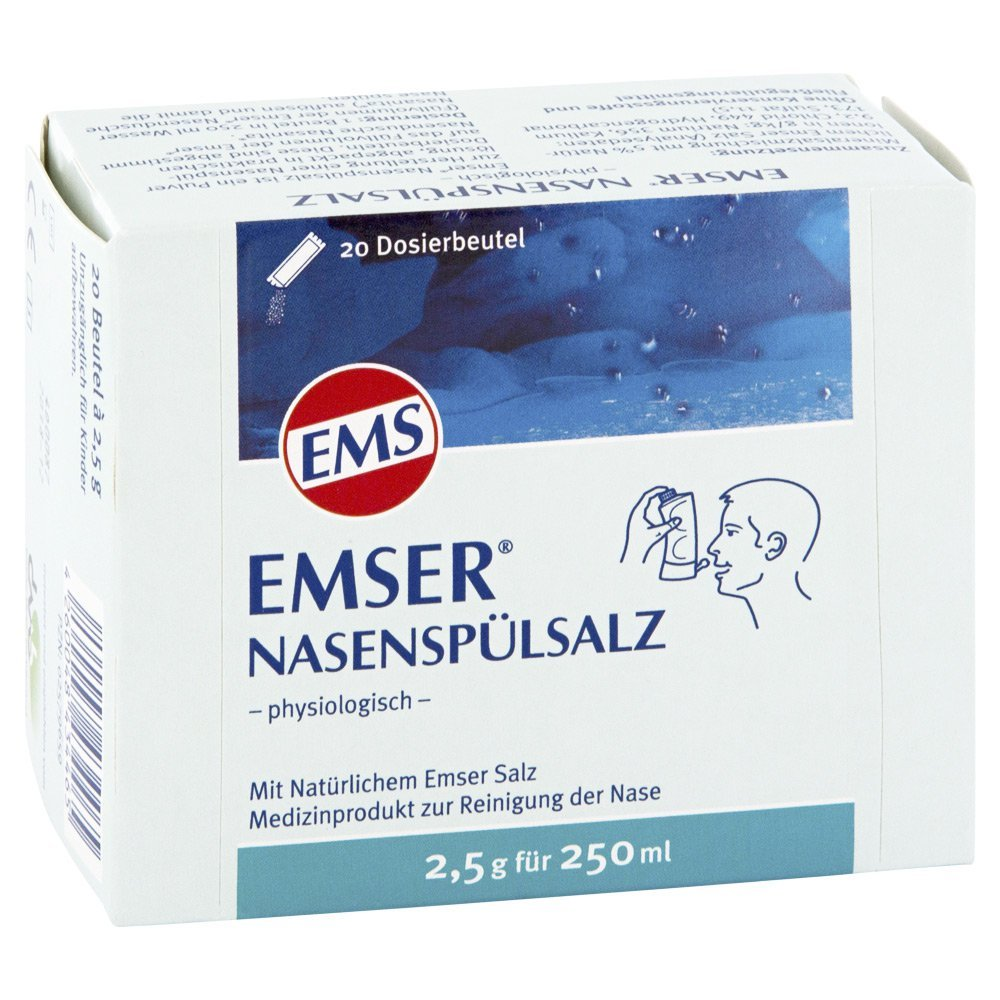 EMSER Nasenspuelsalz fisiológico Btl 20 St SIEMENS & Co. 2579659