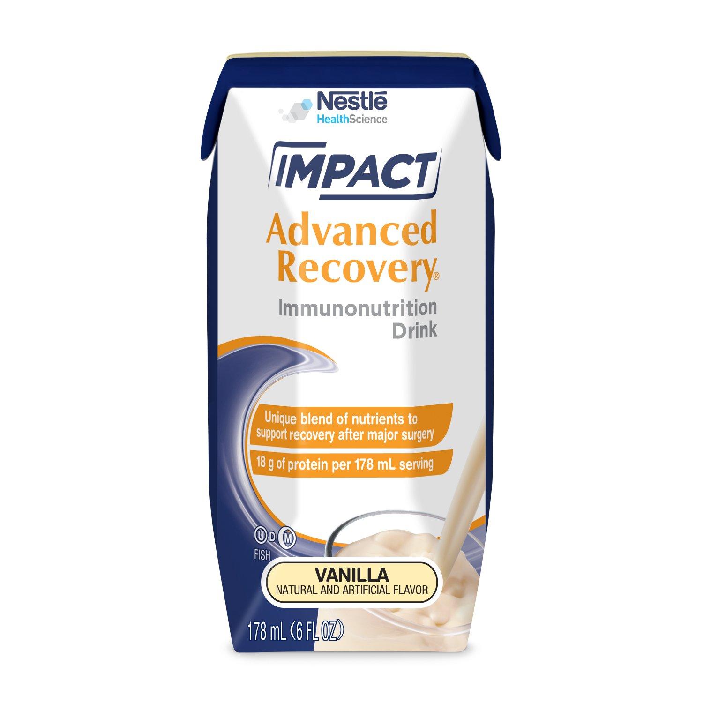 Impact Advanced Recovery Immunonutrition Drink, Vanilla, 6 fl oz box, 15 Pack