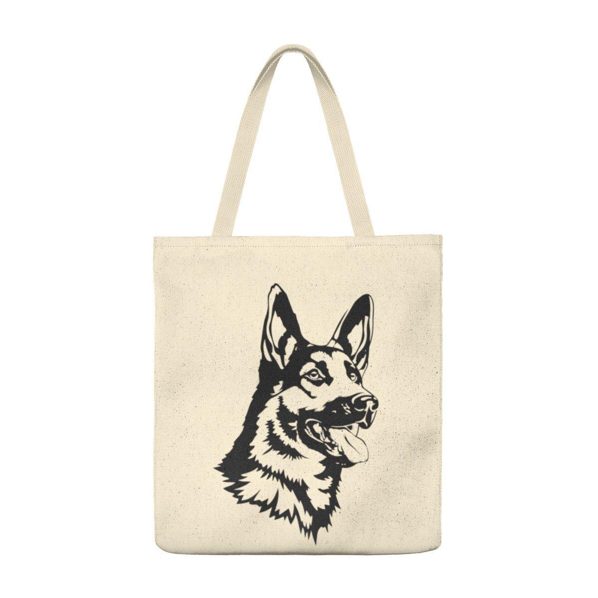Roomy German Shepherd Shoulder Tote Bag