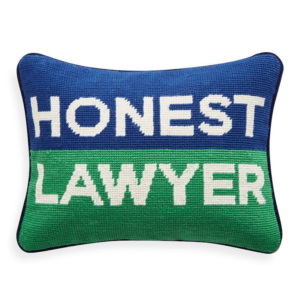 Jonathan Adler - Throw Pillow - Honest Lawyer