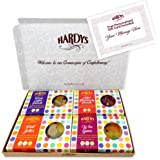 The Hardys Vegan Variety: Letterbox-friendly gift box containing a collection of four 100g boxes of vegetarian and vegan jelly sweets