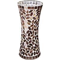 Galashield Ceramic Mosaic Glass Vase for Flowers 11.8