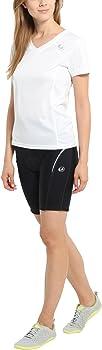 Anti-Rutsch Gummi am Saum RV Tasche hinten kurz mit Quick-Dry-Funktion Fahrradhose mit hochnehmbarem oder festem Sitz- Polster Radlerhose Ultrasport Advanced Damen-Funktions-Radhose