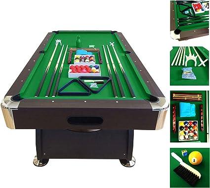 Amazon Com Temporada De Billar Mesa De Billar 7 Pies Snooker Full Set Accesorios Juego Mod Verde Sports Outdoors