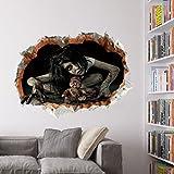 GGG Nouveau Scary Halloween Horreur amovible Banshee vinyle autocollant de mur Stickers muraux en vinyle- 1