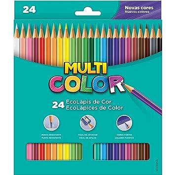 96fe1709d7 Lapis De Cor Sextavado Multicolor Super Eco 24cores - Pacote com 06 Faber  Castell