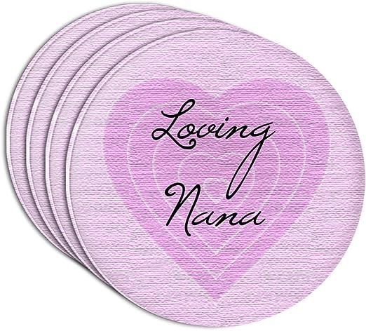 Nana Love Hearts Thin Cork Coaster Set of 4