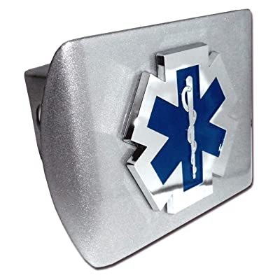 Elektroplate EMS Emblem Brushed All Metal Hitch Cover: Automotive