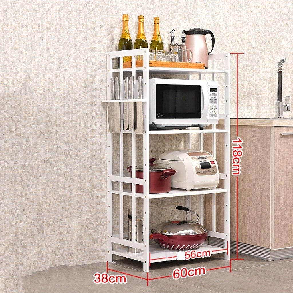 TRRE @ Porte-serviettes de cuisine Racks à micro-ondes étagères multifonctions Grilles de rangement Porte-bagages