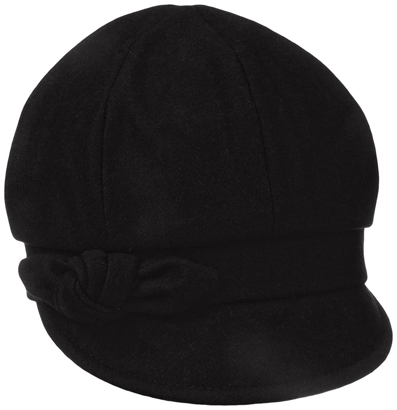 Betmar Women's Adele Plaid Cap with Bow Black One Size Betmar Womens Accessories B011H