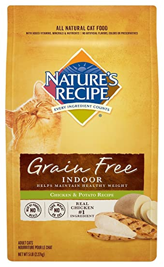 Amazon natures recipe grain free dry indoor cat food chicken natures recipe grain free dry indoor cat food chicken and potato recipe 5 forumfinder Images