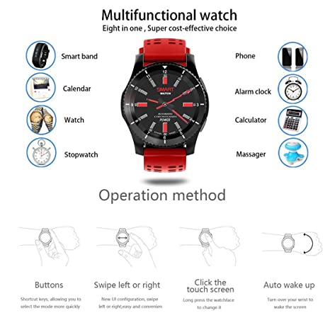 No.1 GS8 Smartwatch Bluetooth 4.0 Llamada SIM Sport Message ...