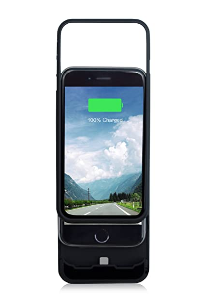 best website 3b248 0fc1c EYN Products Battery Charger Case for iPhone 6 - Retail Packaging - Black