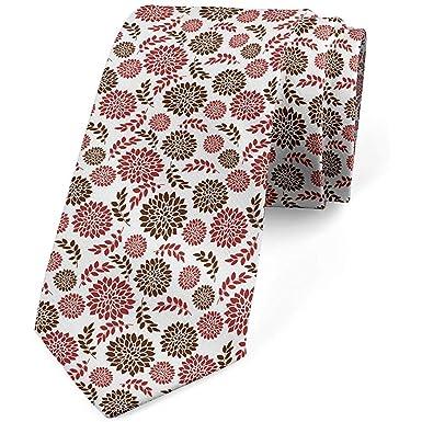 Corbata para hombre, floración estacional de margaritas de verano ...