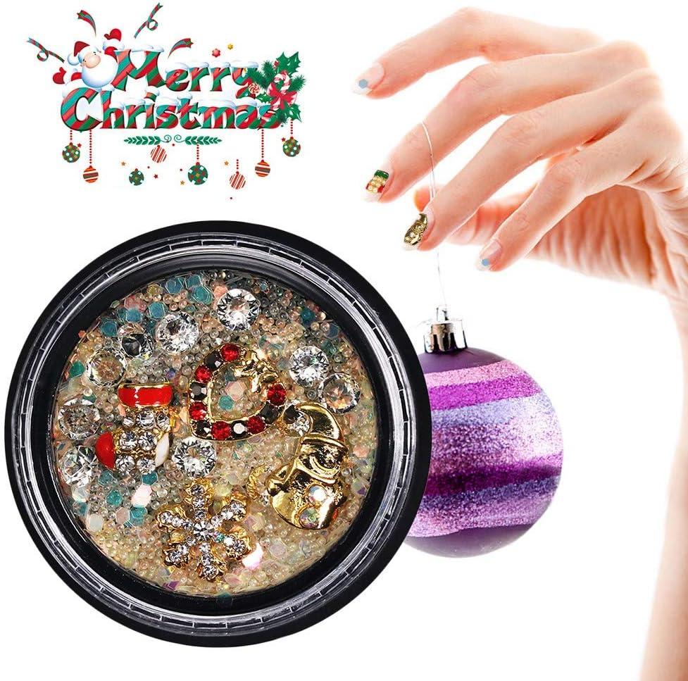 Calcomanías de uñas con diamantes de imitación 3D, calcomanías de ...