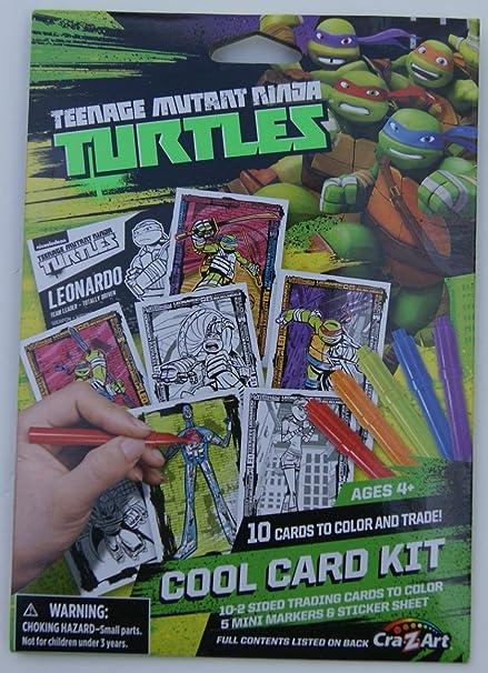 Teenage Mutant Ninja Turtles Cool Trading Card Kit (10 Cards, 5 Markers, 1 Sticker Sheet)
