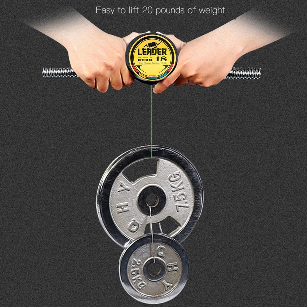 Fil de P/êche Tress/ée YFCH Ligne de P/êche PE Tress/ée 300M//8 Brins 0,1mm-0,50mm 5.45kg-43.5kg R/ésistance /à labrasion Z/éro /Étirement