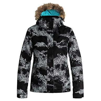 1b558d2c82 Roxy Snow Junior's Jet Ski Printed Slim Fit Snow Jacket