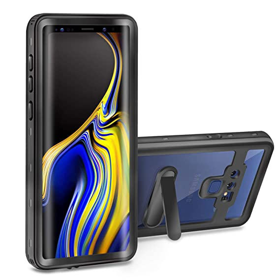 sale retailer af90f 25626 Meritcase Waterproof Case for Samsung Galaxy Note 9 Full-Body Rugged Case  Heavy Duty Protection Cover with Built-in Screen Protector & Kickstand for  ...