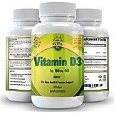 La vitamina D3 5000 UI in olio d'oliva, tutti naturali, supplemento efficace e sicuro per donne e uomini, di sostegni ossa, muscoli, del seno, della prostata, Denti e del sistema immunitario