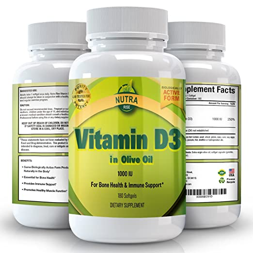 4 opinioni per La vitamina D3 5000 UI in olio d'oliva, tutti naturali, supplemento efficace e