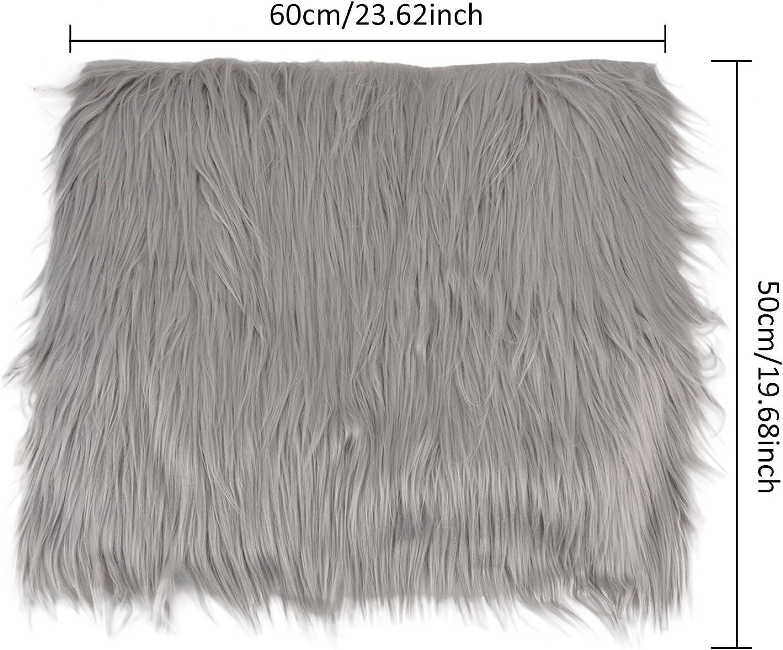 ZOYLINK Nouveau-n/é Wrap Photo Prop Cheveux Longs Nouveau-n/é Photographie Wrap Photo Couverture Shaggy Tapis avec Ripple Wrap pour B/éb/é
