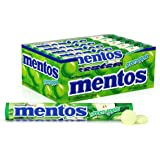 Mentos Chewy Mint Candy Roll, Green Apple, Halloween Candy, Bulk, Party, Non Melting, 1.32 ounce/14 Pieces (1 Pack/15…