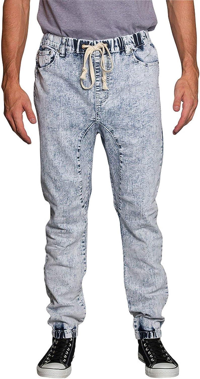 80s Men's Clothing | Shirts, Jeans, Jackets for Guys Victorious Mens Drop Crotch Joggers Denim Jean Pants $32.00 AT vintagedancer.com