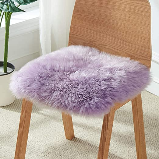 100/% GENUINE NATURAL COLORS SHEEPSKIN For Chair Armchair Seat Cover SOFT FLUFFY