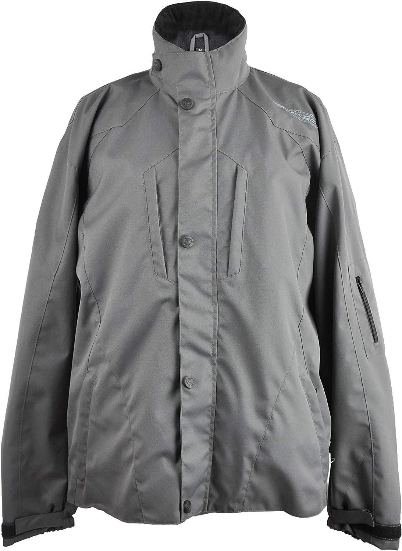 KENROD Chaqueta de cordura de manga larga y bolsillos con cremallera Ajustable al pantalón con lineas reflectantes Color negro/gris Talla XXL