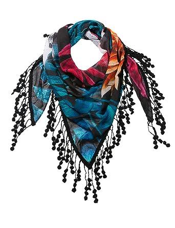 5515318c5a6b Desigual Foulard, Echarpe Femme, Noir (Negro 2000), Unique (Taille Fabricant