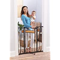 Regalo Home Accents Extra Tall and Wide Baby Gate, Bonus Kit, Includes Décor Hardwood, 4-Inch Extension Kit, 4-Inch…